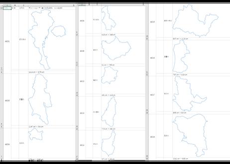 鹿児島県:H31年行政区域地図のオートシェープ図形
