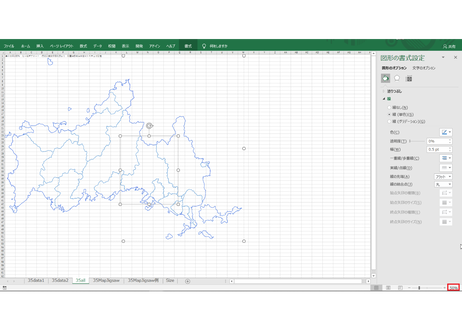 山口県:H31年行政区域地図のオートシェープ図形