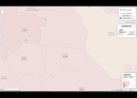 茨城県:PowerBI&ローカルHTML向けH31年行政区域TopoJSON