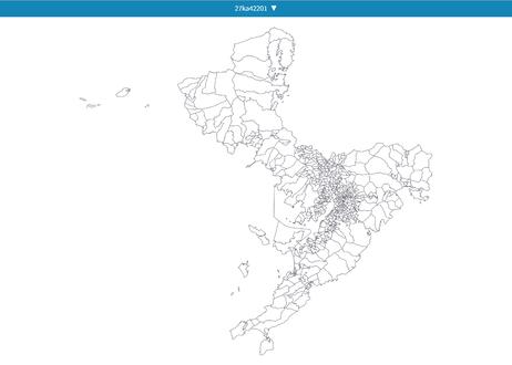 長崎県長崎市:PowerBI向けH27年度国政調査(町丁・字)TopoJSON