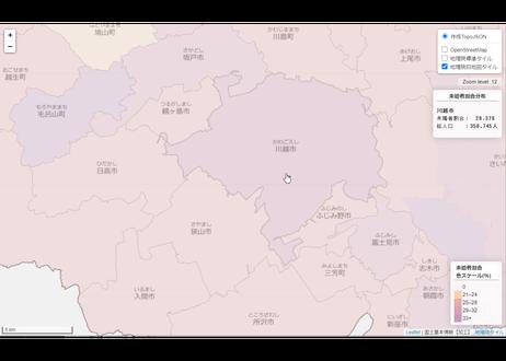 埼玉県:PowerBI&ローカルHTML向けH31年行政区域TopoJSON