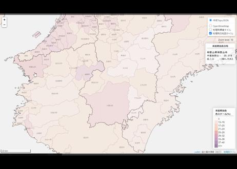 近畿地方:PowerBI&ローカルHTML向けH31年行政区域TopoJSON