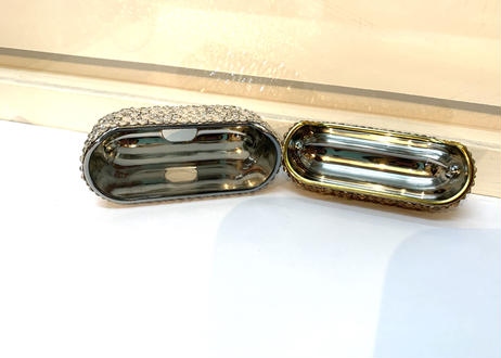 Air Pods Pro luxury case gold×crystal