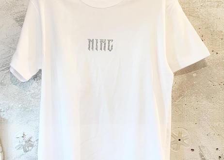 NIAC Original ラインストーンT black・white