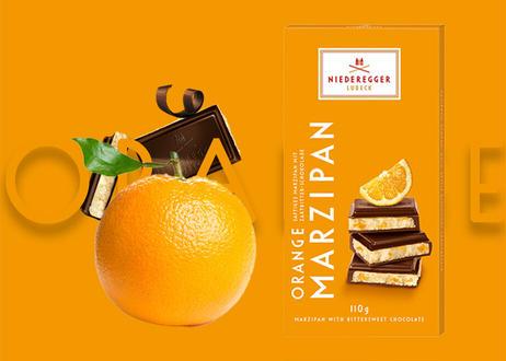 【ニーダーエッガー】マジパン・タブレット オレンジ