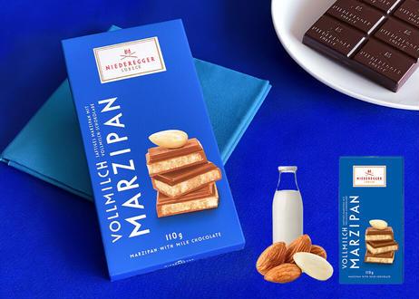 【ニーダーエッガー】マジパン・タブレット ミルクチョコレート