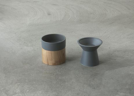 Food & Water Bowl Set [ダークグレー]