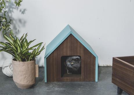 HÜTTE / cat house [ターコイズ×ウォールナット]