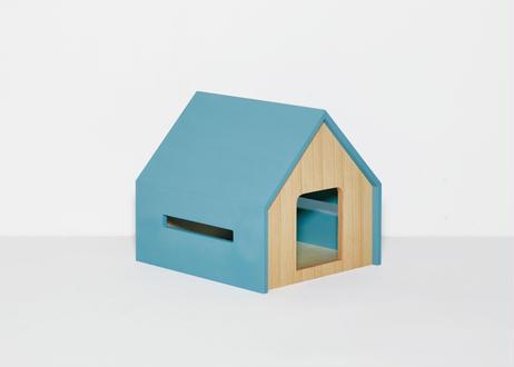 HÜTTE / cat house [ライトブルー×オーク]