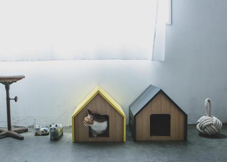 HÜTTE / cat house [ホワイト×オーク]