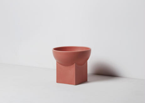 UYUNI / food & water bowl [ピーチアンバー]