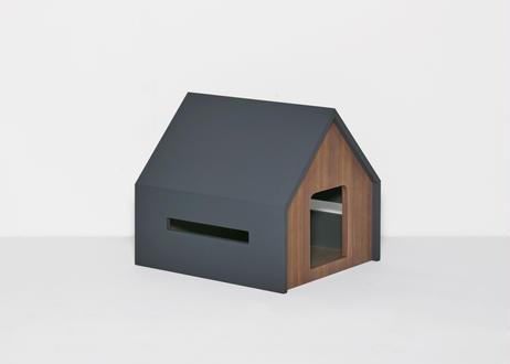 HÜTTE / cat house [ダークグレー×ウォールナット]