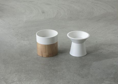 Food & Water Bowl Set [グレイッシュホワイト]