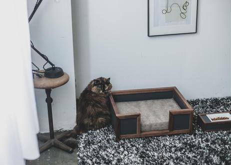 GOTHAM / pet bed [オーク×ダークグレー]