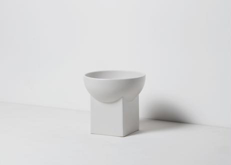 UYUNI / food & water bowl [グレイッシュホワイト]