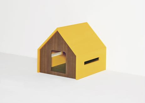 HÜTTE / cat house [イエロー×ウォールナット]
