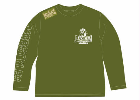 MOBSTYLES×岡畜産 50th ANNIVERSARY ロングスリーブTee  KAHKI