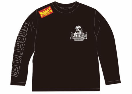 MOBSTYLES×岡畜産 50th ANNIVERSARY ロングスリーブTee  BLACK