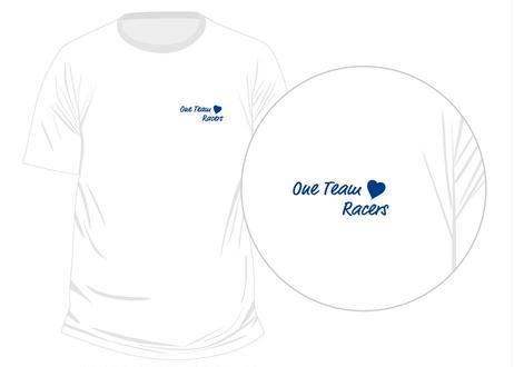 OneTeam Racers Tシャツ ホワイトベース