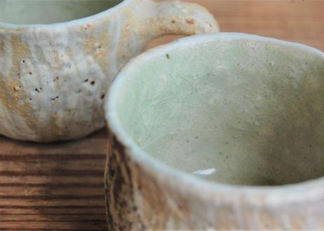 手びねり幅広コーヒーカップ&ソーサー 刷毛