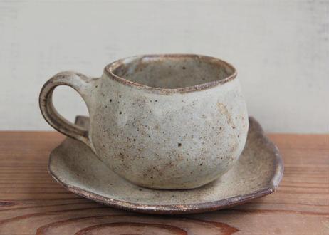 手びねり丸コーヒーカップ&ソーサ― 茶
