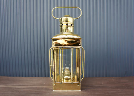 Vintage Cargo Ship Brass Lamp