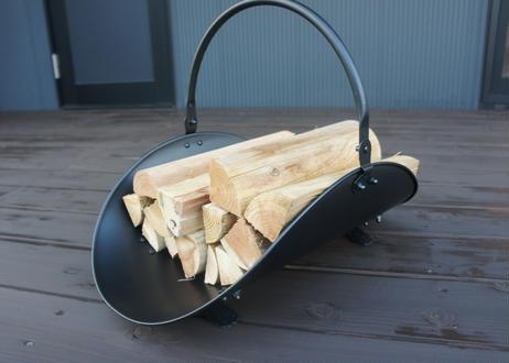Fireplace Log Holder Black