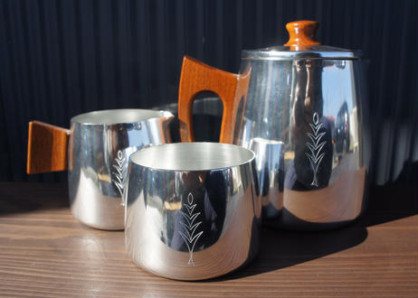 Vintage SONA Coffee Set Stainless  Steel