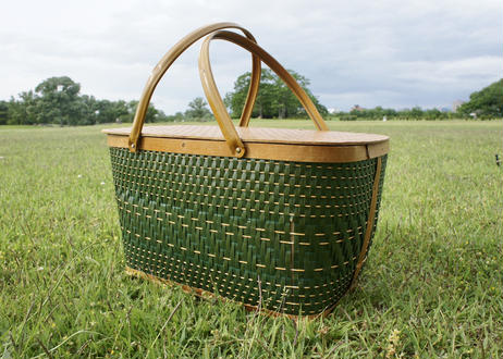 Vintage Basket Green