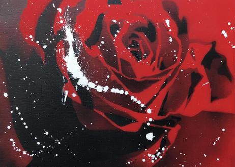 Paint Rose 「愛情」- Red Splash