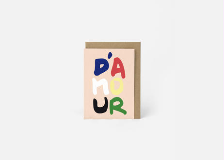 A6サイズメッセージカード / D'AMOUR