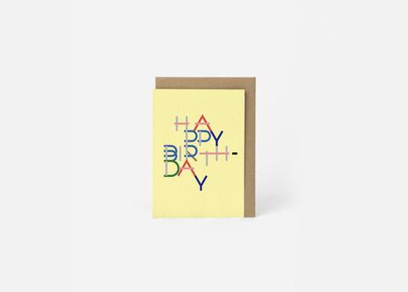 A6サイズメッセージカード / THE HAPPY BIRTHDAY #3