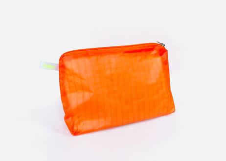 Magic ポーチ with zipper #Neon Orange