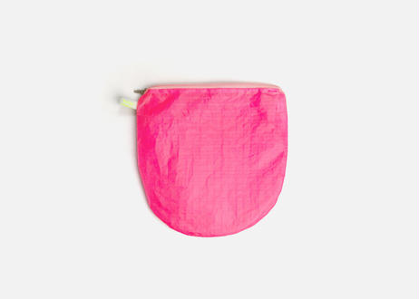 Magic Round ポーチ with zipper #Neon Pink