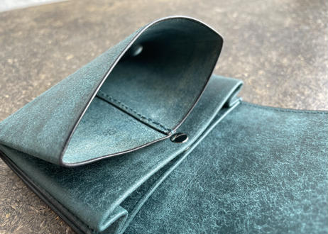 lampan|お札まっすぐ本革財布〈コインたっぷり〉2色