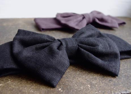 sinsin|ribbonターバン〈黒/グレー〉