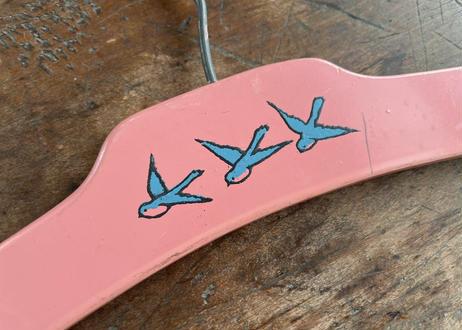 vintage|ベビー用木製青い鳥のハンガー