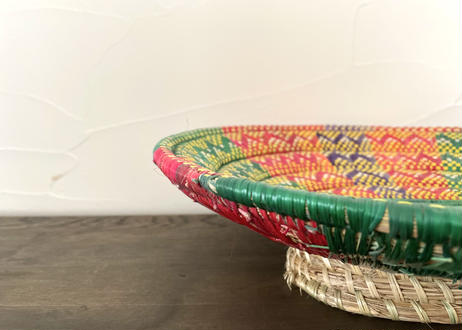 新品 エチオピア 伝統バスケット(柄アソート)