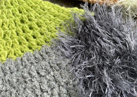 sinsin s/s カラフルニット帽〈グリーン系/茶系〉