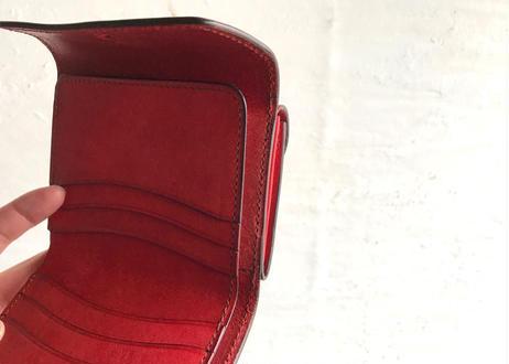 【多少難ありの為期間限定セール】革二つ折り財布〈magic〉赤