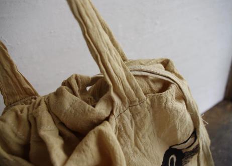 マリ|泥染布エコバック/ねこ