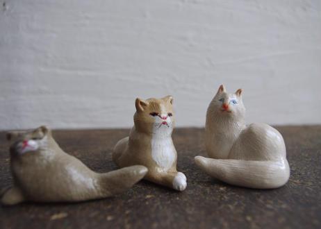 民芸箸枕鶴子 箸置き「 猫さん3種類 」