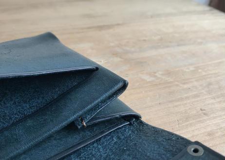 本革シンプル財布・濃茶 / 深緑