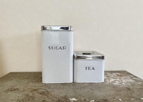 vintage ミッドセンチュリーキャニスター「TEA」