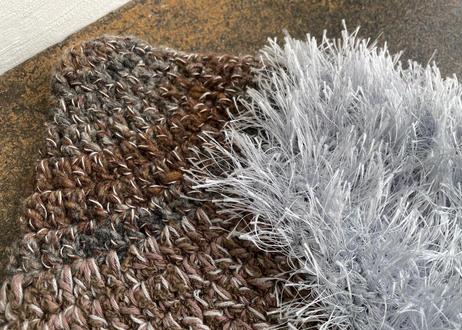 sinsin s/s カラフルニット帽〈グリーン×茶系/茶×シルバーグレー〉