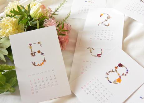 Fel färg|押し花カレンダー2021