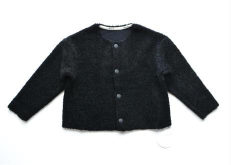 "【 MOUN TEN. 20AW 】boa crewneck cardigan  [MT202032] "" カーディガン ""  / black"