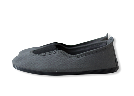 【 La Cadena 20AW 】 GIMNASIA   PANEL COLOR SLIP ON / DK GREY ×  BLACK / 17〜21cm