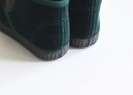 【 Cienta 】ベルクロブーツ(975075) / green / velour / 14~21cm