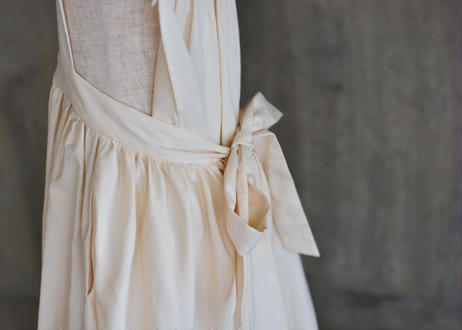 "【 GRIS 2020SS 】GR20SS-DR003 ""Apron Dress"" / Ecru / M-L"